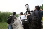 Taking a photo with DSLR camera — Foto de Stock