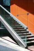 Steel steps — Stock Photo