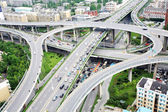 Overpass and a lot of cars — Stock Photo
