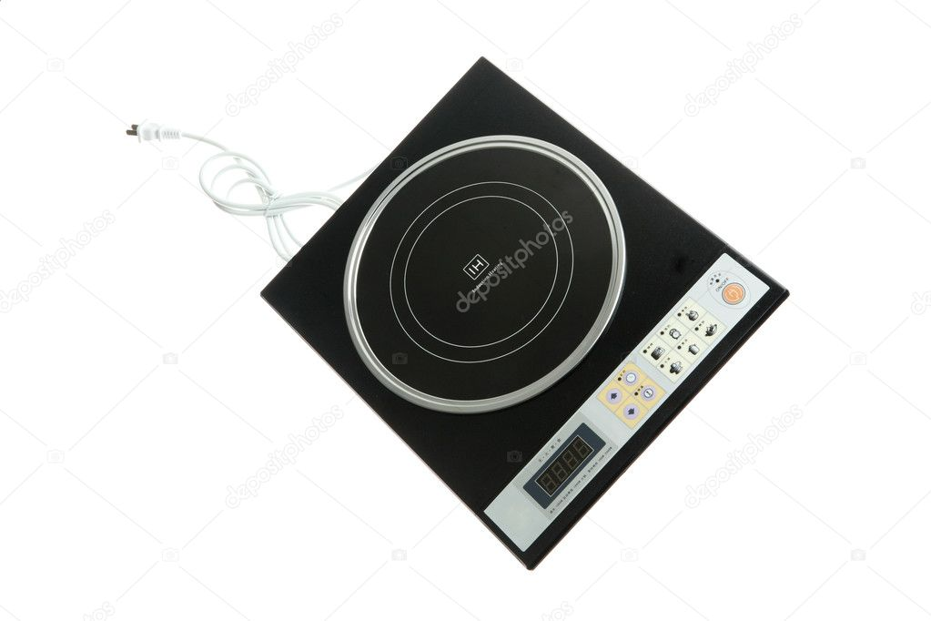 A modern induction stove detail — Stock Photo #10774799