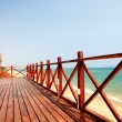 Tropical balcony with sea view - Stockfoto