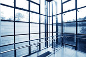 Transparent windows of office — Stock Photo