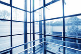 Transparentní windows Office — Stock fotografie