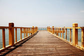 A wooden bridge over the sea — Stock Photo