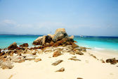Rocky beach of Sanya — Stock Photo