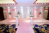 Romantic wedding scene — Stock Photo