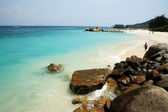 Rocky beach of Sanya — Foto Stock