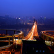 Stock Photo: Traffic on night road junction