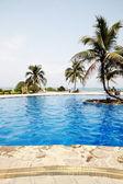 Schwimmbad in china hotel mit palmen. china, sanya — Stockfoto