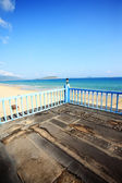 Tropical balcony with sea view — Stock Photo