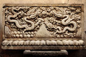 Chinese temple stone carving — Stock Photo
