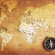 Compass on a Treasure map — Stock Photo #10810031