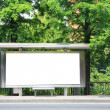 Stock Photo: Bus stop billboard