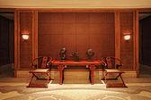 китайский классический отель — Стоковое фото