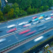 Traffic with blur motion car — Stock Photo