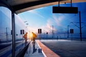 Railway station — Foto de Stock