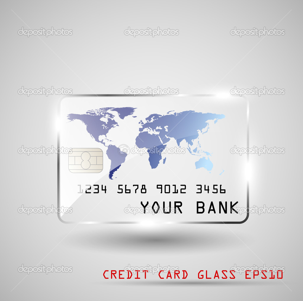 Credit card glass, vector illustration, EPS10 — Stock Vector #11524846