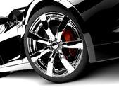 Zwarte auto — Stockfoto