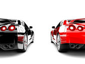 Two cars — Stockfoto