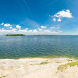 Stock Photo: Summer lake panorama