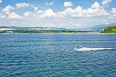 Summer lake panorama — Stock Photo