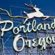 Portland. Oregon sign — Stock Photo