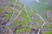 Trollstigen mountain road, Norway — Stock Photo