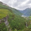 Beautiful Norway landscape of Geiranger Fjord - Stock Photo