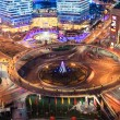 Shanghai downtown at night — Stock Photo