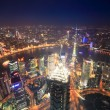 Overlooking shanghai at night — Stock Photo #10995205
