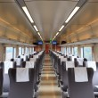 Inside the train compartment — 图库照片