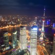 Aerial view of shanghai at night — Stock Photo