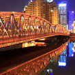 Stock Photo: Shanghai garden bridge at night