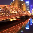 Shanghai garden bridge at night — Stock Photo