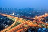 Urban flyover at dusk — Stock Photo