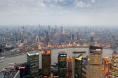 Aerial view of shanghai at dusk — Stock Photo