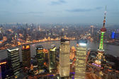 Shanghai panoramic at dusk — Stock Photo