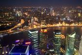 Shanghai panoramic at night — Stock Photo