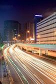 Urban traffic at night — Stock Photo