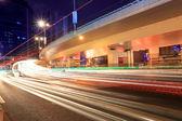 Night city highway traffic — Stock Photo