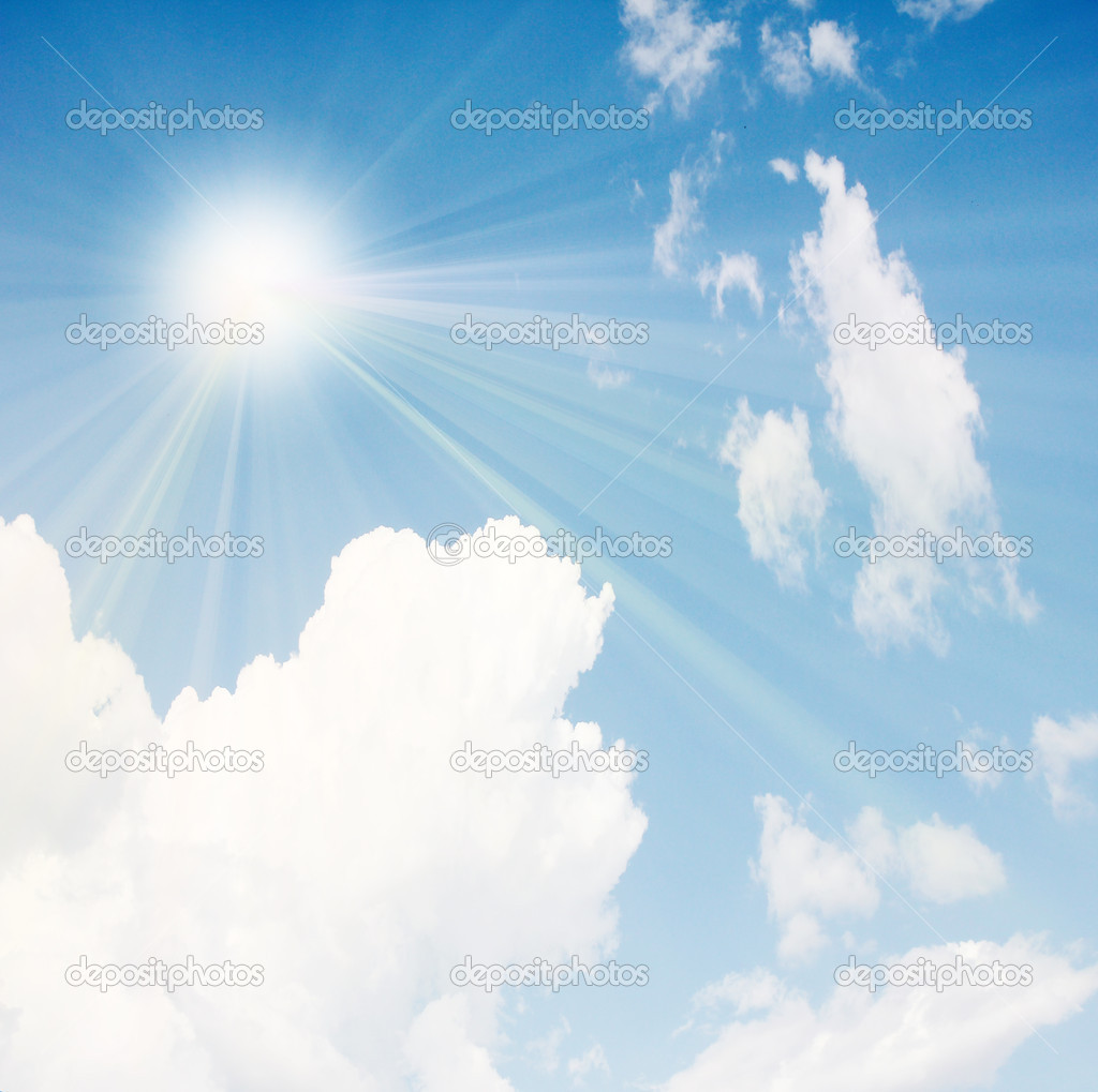 Beautiful cloud and solar sky as illustration summer  — Stock Photo #12176576