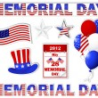 Memorial day stickers. — Stock Vector