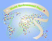 World Environment Day banner. — Cтоковый вектор