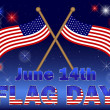 Flag Day background. — Stock Vector