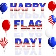 Happy Flag Day. — Stock Vector