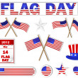 Flag Day stickers. — Stockvektor