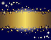 Gold banner and stars. — Stockvector