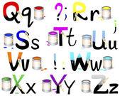 English alphabet Q-Z. — Stock Vector