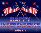 Independence Day card. — Vettoriale Stock
