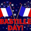 Stock Vector: Bastille Day background.